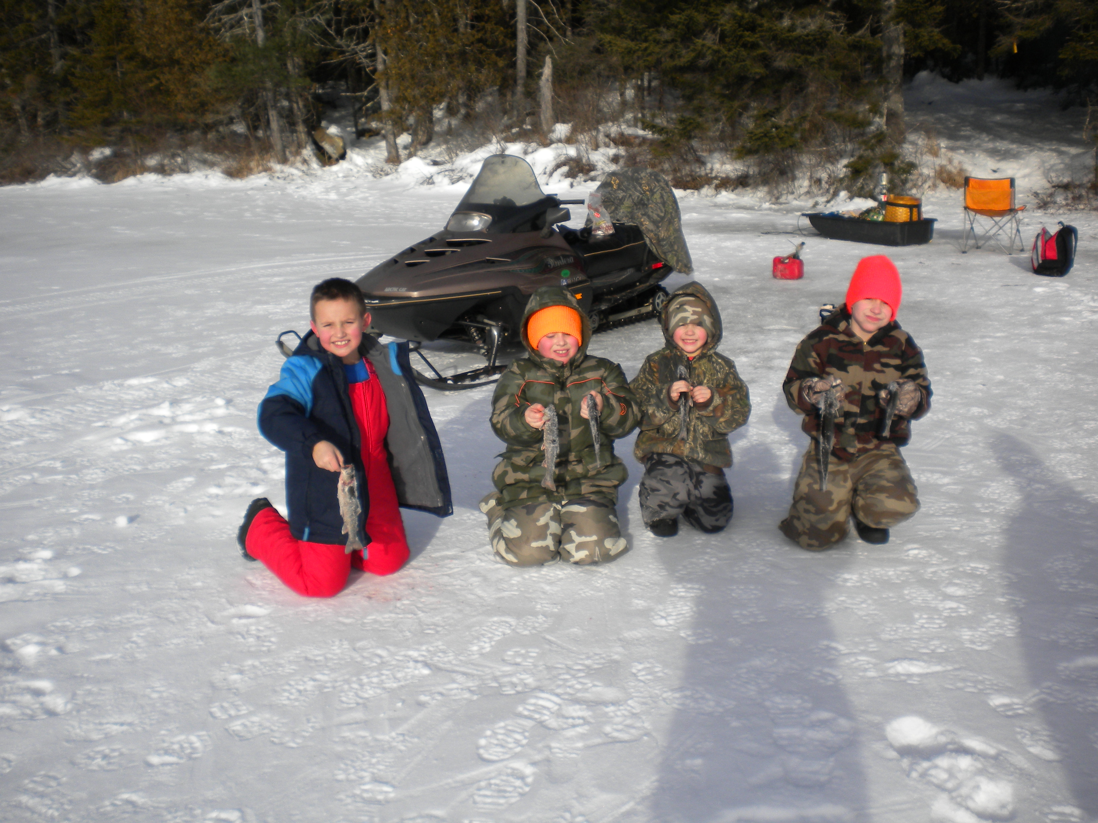 maine ice fishing trips, Reel Combo